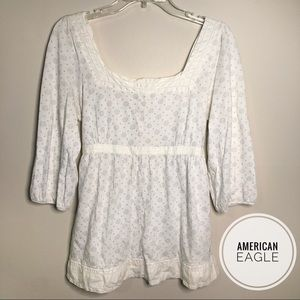 American Eagle Three-Quarter Sleeve Babydoll Top